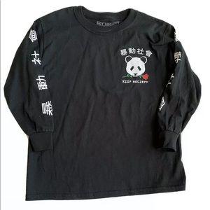 Riot Society Long Sleeve Panda tee shirt